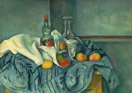 Cezanne, Paul: The Peppermint Bottle. Fine Art Print/Poster. Sizes: A4/A3/A2/A1 (004226)